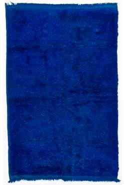 Navy Blue colored Turkish Tulu Shag Pile Rug, HANDMADE, 100% Wool