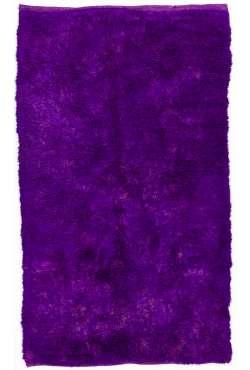 Purple colored Turkish Tulu Shag Pile Rug, HANDMADE, 100% Wool