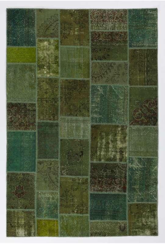 200x300 cm Yeşil Renkli PATCHWORK Halı
