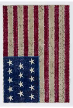 4' x 6' American Flag Design  Patchwork Rug