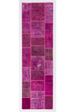 3' x 10' Pink Patchwork Runner Rug